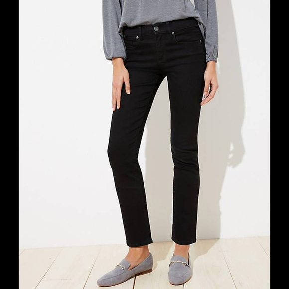 Ann Taylor LOFT Modern Straight Cuffed Cropped Jeans Pants Size 25//0 Petite NWT